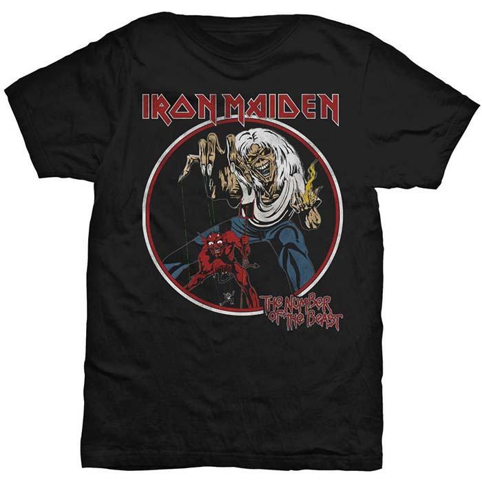 T-SHIRT IRON MAIDEN – THE NUMBER OF THE BEAST, HammerLand