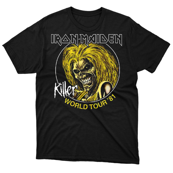 T-SHIRT IRON MAIDEN – KILLERS WORLD TOUR '81, HammerLand