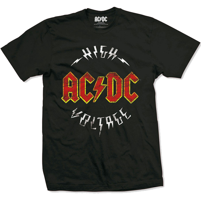 T-SHIRT AC/DC HIGH VOLTAGE DISTRESSED, HammerLand