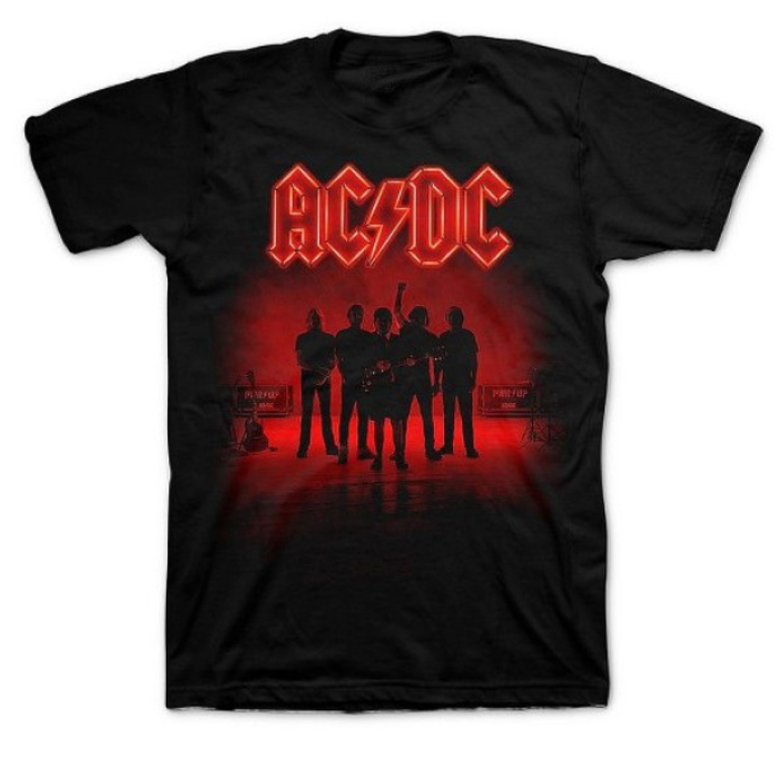 T-SHIRT AC/DC – Band Silhouette, HammerLand